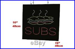 Subs Sign, TOPKING Signage, LED Neon Open, Store, Window, Shop, Business, Display