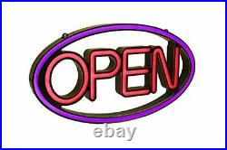 Super Bright LED Multi-Color Business Store Window Open Sign, 23 W x 13 H