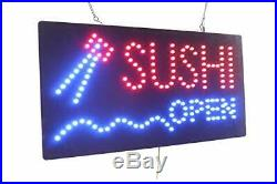 Sushi Open Sign TOPKING Signage LED Neon Open Store Window Shop Business Disp