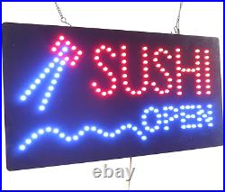 Sushi Open Sign, Topking Signage, Led Neon Open, Store, Window, Shop, Business
