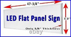 THRIFT STORE vertical Led illuminated window sign 48x12 flat panel Led sign