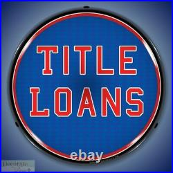TITLE LOANS Sign 14 LED Light Store Business Advertise Made USA Life Warranty