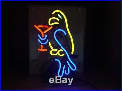 TN172 Parrot Cocktail Happy Hour Beer Decor Bed Store Neon Light Sign LED 13x9