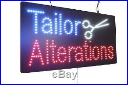 Tailor Alterations Neon Sign LED Open Sign Store Sign Business Sign Window Sign