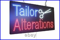 Tailor Alterations Sign, Signage, LED Neon Open, Store, Window, Shop