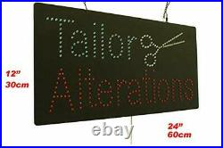 Tailor Alterations Sign TOPKING Signage LED Neon Open Store Window Shop Busin