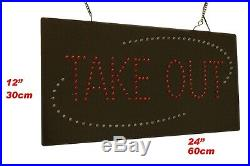 Take Out Sign 24 LED Sign Store Sign Business Sign Window Sign Home Delivery