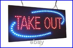 Take Out Sign 24, TOPKING Signage, LED Neon Open, Store, Window, Shop, Display