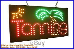 Tanning Sign Neon Sign LED Open Sign Store Sign Business Sign Window Sign