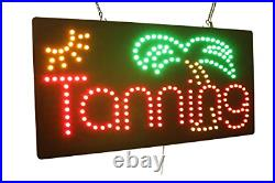 Tanning Sign, TOPKING Signage, LED Neon Open, Store, Window, Shop, Business