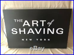 The Art Of Shaving New York Double-Sided LED Lighted Store Display Sign Mancave