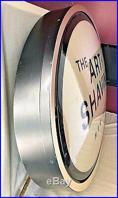 The Art Of Shaving New York Oval LED Lighted Store Display Sign Hipster Mancave