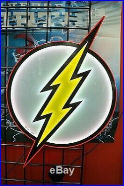 The FLASH LED Logo BRANDLITE SIGN 15 x 25 Comic Store Exclusive NEW RARE