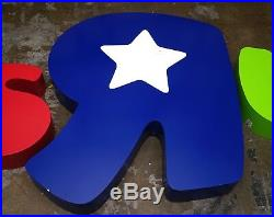 Toys R Us Outlet Sign Store Front Led Light Up Letters Very Rare