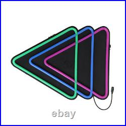 Triangle LED Neon Sign Light Hanging Party Store Visual Artwork Lamp Wal