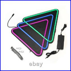 Triangle LED Neon Sign Light Hanging Party Store Visual Artwork Lamp Wall C3