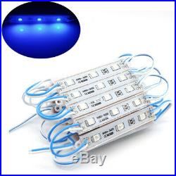 US 100FT 5050 SMD 3 LED Module Light Bar Store Front Window Sign Strip Lamp Kits