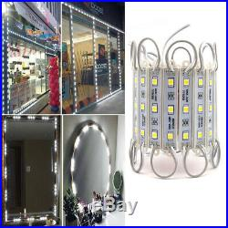 US 10200FT 5050 SMD White 3 LED Module Light STORE FRONT Window Sign Lamp Kits