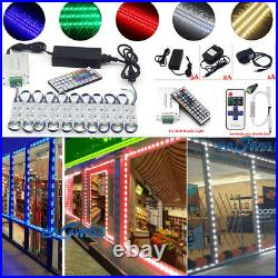 US 5050 Brightest Store Front LED Window Light Module Sign Lamp+Remote+Power Kit