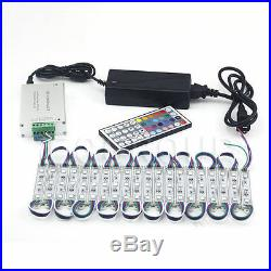 US RGB 10FT100FT 3 LEDs 5050 SMD Module Light Store Bar Front Window Sign Lamp
