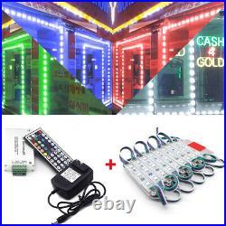 US RGB 60600 LED SMD 5050 3 LED Module Light Store Front Window Sign Lamp Decor