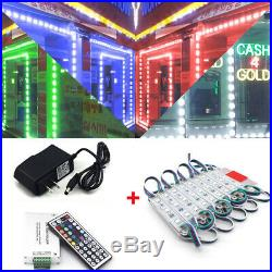 US RGB 60600 LED SMD 5050 3 LED Module Light Store Front Window Sign Lamp Decor
