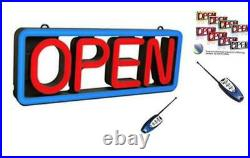 Ultra Bright Electronic LED Neon Multi-Color Business Store Window Open Sign, 8