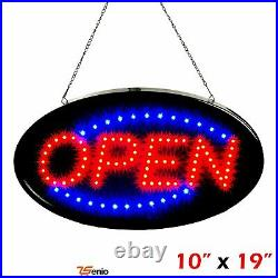 Ultra Bright Led Neon Sign Open For Business Store Animated Motion Light 2 Mod