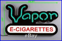 Vapor Store Window Sign LED Light + 20ft Green Storefront LED Light Smoke Shop