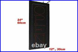 Vertical Open Sign 24, Signage, LED Neon Open, Store, Window, Shop
