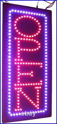 Vertical Open Sign 24, TOPKING Signage, LED Neon Open, Store, Window, Shop