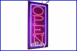 Vertical Open Sign 24 TOPKING Signage LED Neon Open Store Window Shop Busine