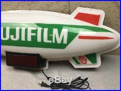 Vintage 1998 Fuji Fujifilm Dualite 36 Store Advertising Blimp Sign with Led Clock