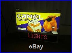 Vintage JOE CAMEL Cigarettes JOE CAMEL LED Message Board STORE Sign Display RARE