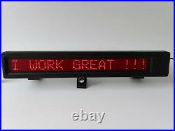 Vintage LED Message Board STORE Sign Scrolling Red Display RARE