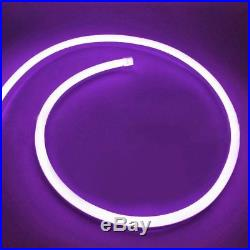 Violet LED Neon Rope Light Flex Waterproof Store Home Party Xmas Sign Decor 110V