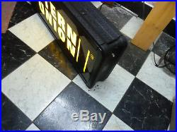 WESTERN UNION Light Up LED Store Advertising Sign Double Sided 12 x 36
