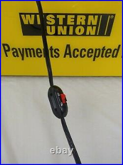 WESTERN UNION Light Up LED Store Advertising Sign Double Sided 25.5 x 12