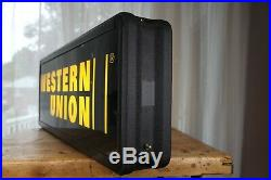WESTERN UNION Light Up LED Store Advertising Sign Double Sided 38