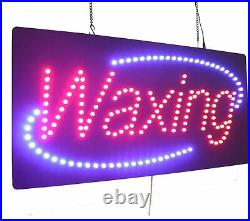Waxing Sign TOPKING Signage LED Neon Open Store Window Shop Business Display