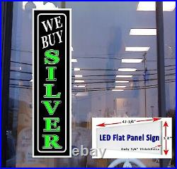 We Buy Gold Silver Coins Led Flat Panel 48in x 12in Business Store Signs 3 sign