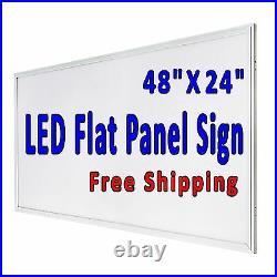 We Repair Computers LED flat panel window Store sign 48x24