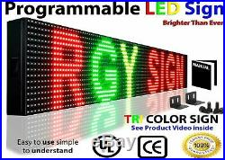 Wi-Fi RGY PROGRAMMABLE LED SIGN 7 X 25 NEION OPEN STORE SHOP BAR TEXT DISPLAY