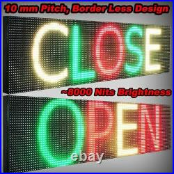 WiFi TRI-COLOR PROGRAMMABLE LED SIGN 19 X 101 SHOP STORE SCROLL TEXT DISPLAY