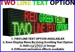 WiFi TRI-COLOR RGY PROGRAMMABLE LED SIGN 12 X25 SHOP STORE SCROLL TEXT DISPLAY
