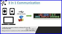 WiFi TRI-COLOR RGY PROGRAMMABLE LED SIGN 19 X25 SHOP STORE SCROLL TEXT DISPLAY