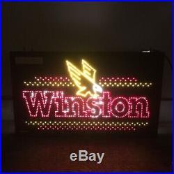 Winston Store Sign Fiber Optic Motion Light Up Sign Cigarette Man Cave